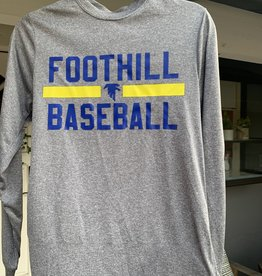 Grey Long-sleeve Foothill Baseball Shirt