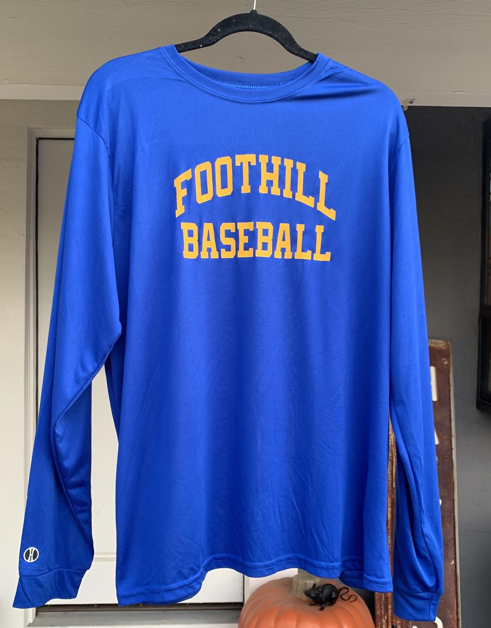 Blue Long-sleeve Foothill Baseball Shirt