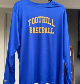 Blue Long-sleeve Foothill Baseball Shirt