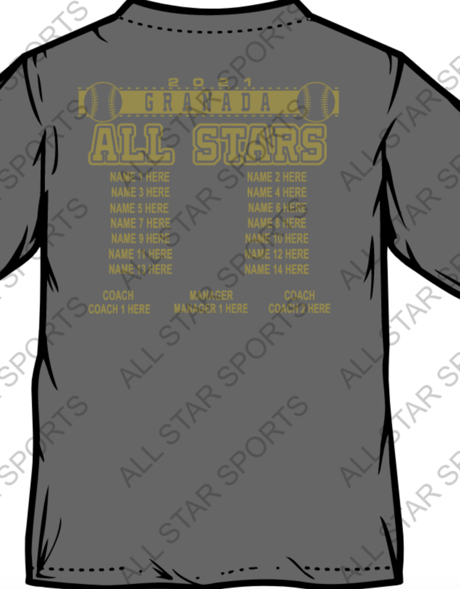 GLL All Stars 21' V neck