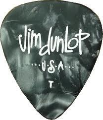 Dunlop Dunlop Celluloid Classic Black Pearl Picks Thin — 12 Pack