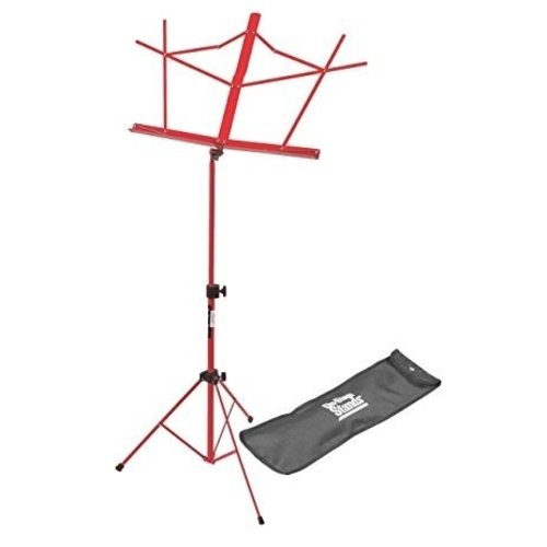 On-Stage On-Stage Sheet Music Stand w/ Carrying Bag —Red