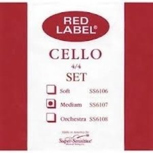 Super Sensitive Red LabelCello Set 4/4 MD