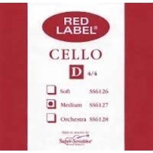 Super Sensitive Red Label Cello D String 4/4 MD