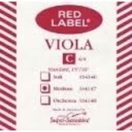 Super Sensitive Red Label Viola C Single String