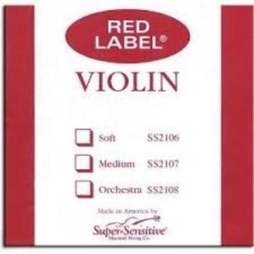 Super Sensitive Red Label Violin D String 4/4