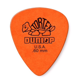 Dunlop Dunlop Tortex Standard Guitar Pick, 0.60mm, 12 pack, Orange