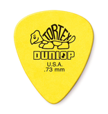 Dunlop Dunlop Tortex Standard Guitar Pick, 0.73mm, 12 pack, Yellow