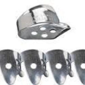 "Dunlop Dunlop Nickel Silver Finger & Thumbpicks, .015"" Player's Pack"