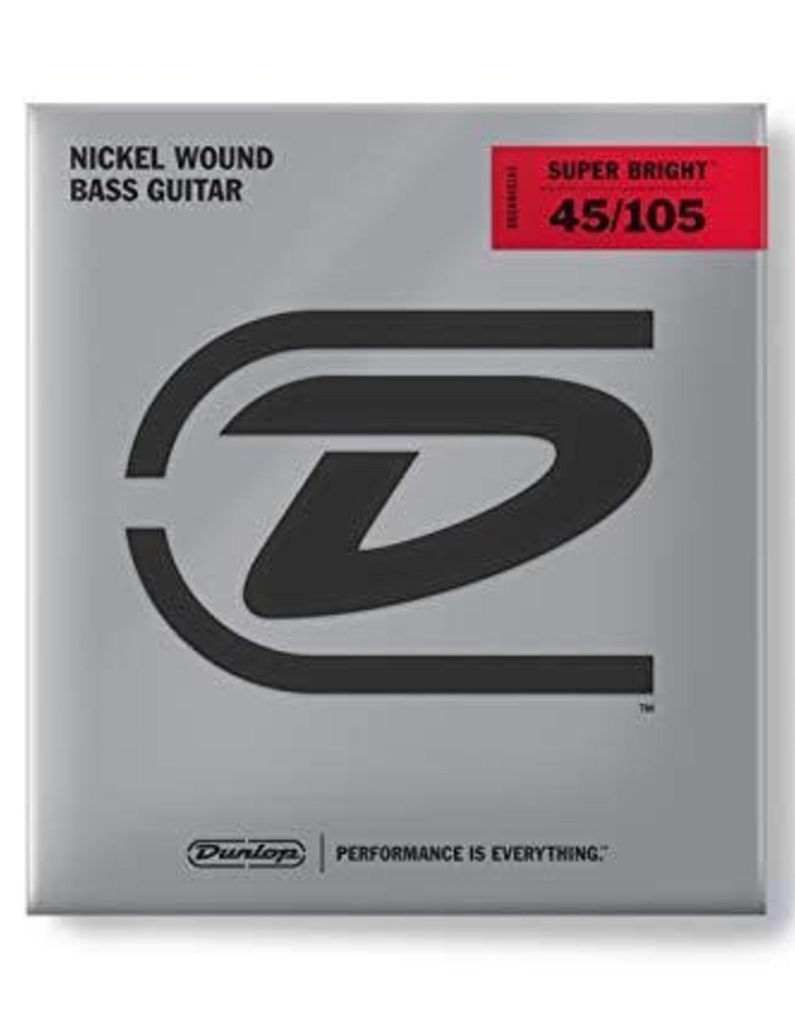 Dunlop Dunlop Super Bright Bass Strings, Nickel Wound, Medium, .045–.105