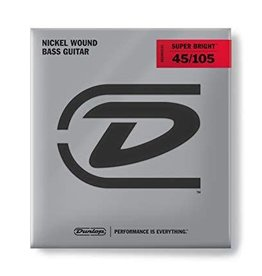 Dunlop Dunlop Super Bright Bass Strings, Nickel Wound, Medium, .045–.105