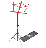On-Stage On Stage Sheet Music Stand w/ Carrying Bag — Red