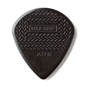 "Dunlop Dunlop Nylon Max-Grip Jazz III Black ""Stiffo"" Picks 6-Pack"