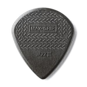 Dunlop Dunlop Carbon Fiber Max-Grip Jazz III Black Guitar Picks 6-Pack