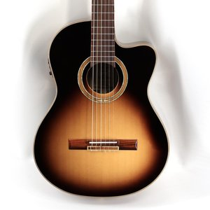Ortega Ortega RCE158SN-TSB - Solid Top Acoustic/Electric Nylon String Gutar - Performer Series - w/ Bag