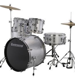 Ludwig Ludwig Accent Drive 5 Piece Drum Set — Silver Foil