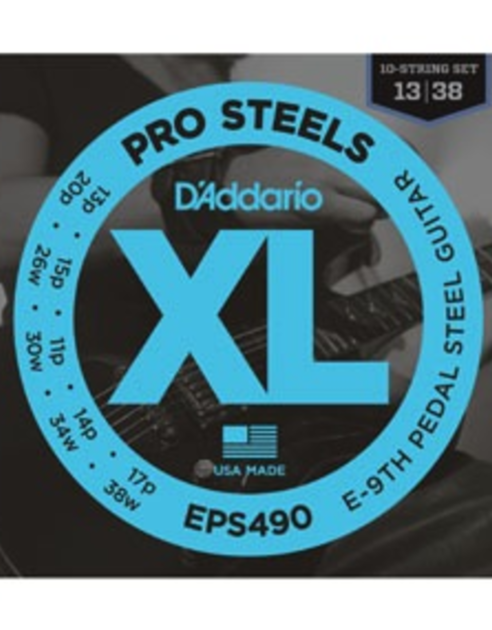 D'Addario D'Addario E9th-Pedal Steel Guitar Strings ProSteels .013p-.038w