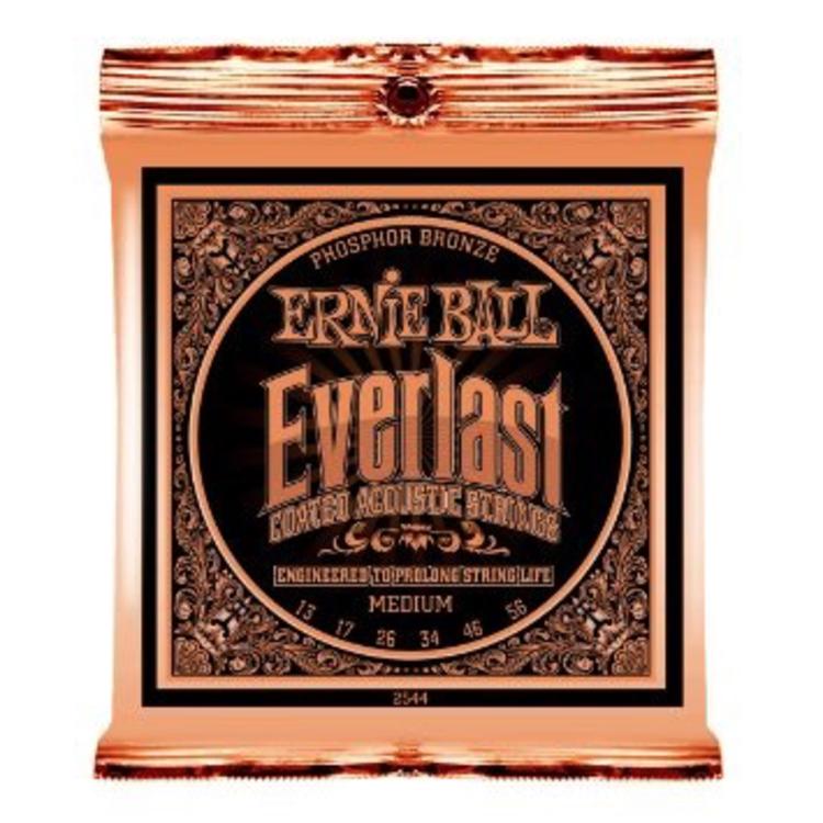 Ernie Ball Ernie Ball Everlast Medium Coated Phosphor Bronze Acoustic Guitar Strings - 13-56 Gauge