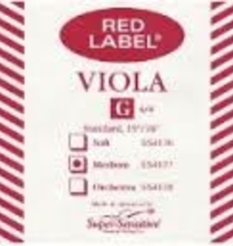 Super Sensitive Red Label Viola G Single String MD