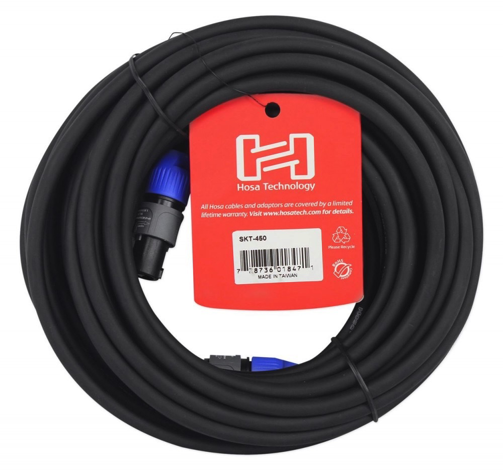 Hosa Pro Pro Speaker Cable, REAN Loudspeaker to Same, 50 ft