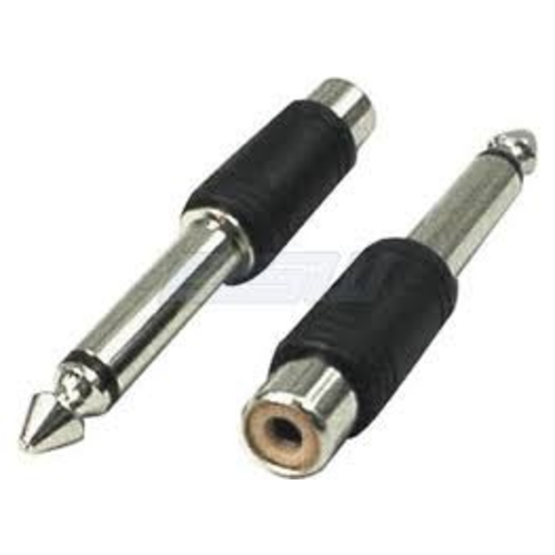 Hosa Hosa Adapters, RCA to 1/4in TS, 2 pc
