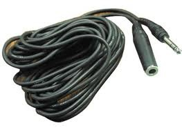 Hosa Headphone Extension Cable, 1/4 in TRS to 1/4 in TRS, 25 ft