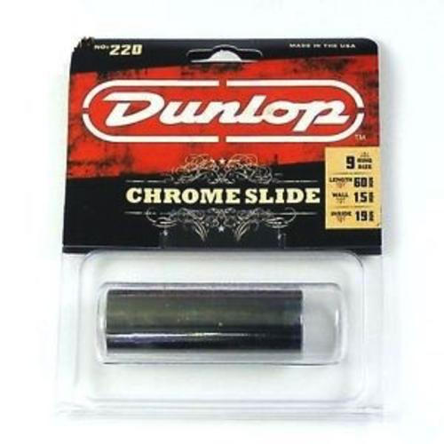 Dunlop Dunlop 220 Chromed Steel Slide - Medium - Regular Wall Thickness