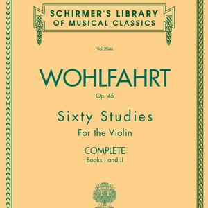 Hal Leonard Franz Wohlfahrt Sixty Studies for the Violin Books 1 & 2