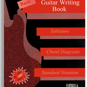 Santorella Publications Basic Guitar Writing Book for Tablature, Chord Diagrams and Standard Notation
