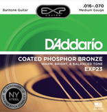 D'Addario D'Addario EXP23 Coated Phosphor Bronze Baritone, .016-.070