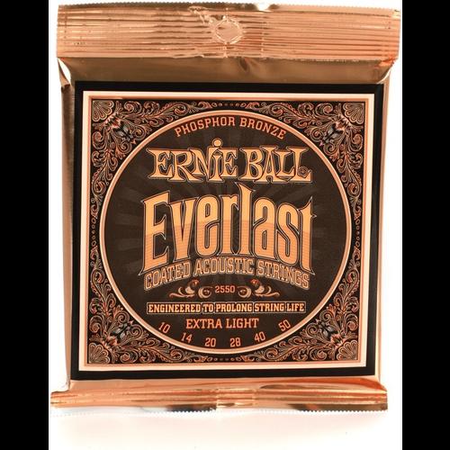 Ernie Ball Ernie Ball Everlast Extra Light Coated Phosphor Bronze Acoustic Guitar Strings - 10-50 Gauge