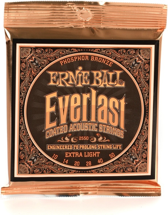 Ernie Ball Ernie Ball Everlast Coated Acoustic Strings Extra Light 10-50