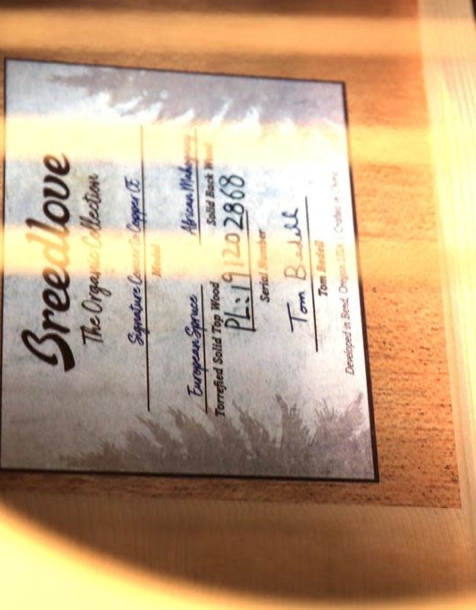 Breedlove Breedlove Signature Concerto Copper CE Torrefied European-African Mahogany w/Gig Bag