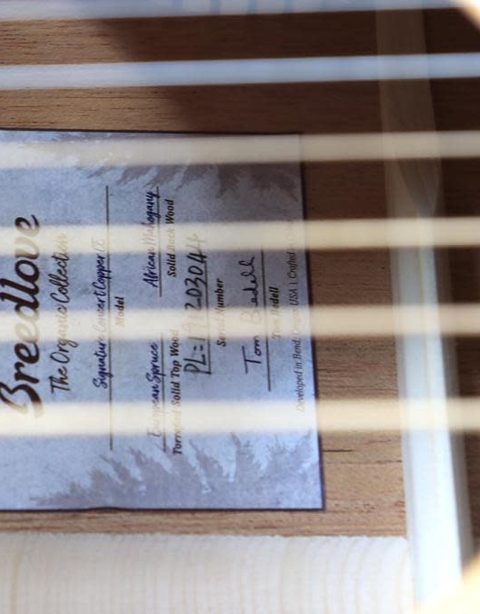 Breedlove Breedlove Signature Concert Copper CE Torrefied European-African Mahogany w/Gig Bag