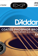 D'Addario D'Addario EXP16 Coated Phosphor Bronze Acoustic Guitar Strings, Light, 12-53