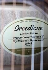 Breedlove Breedlove Oregon Concert Raven CE Myrtlewood-Myrtlewood LTD - 1 of 25