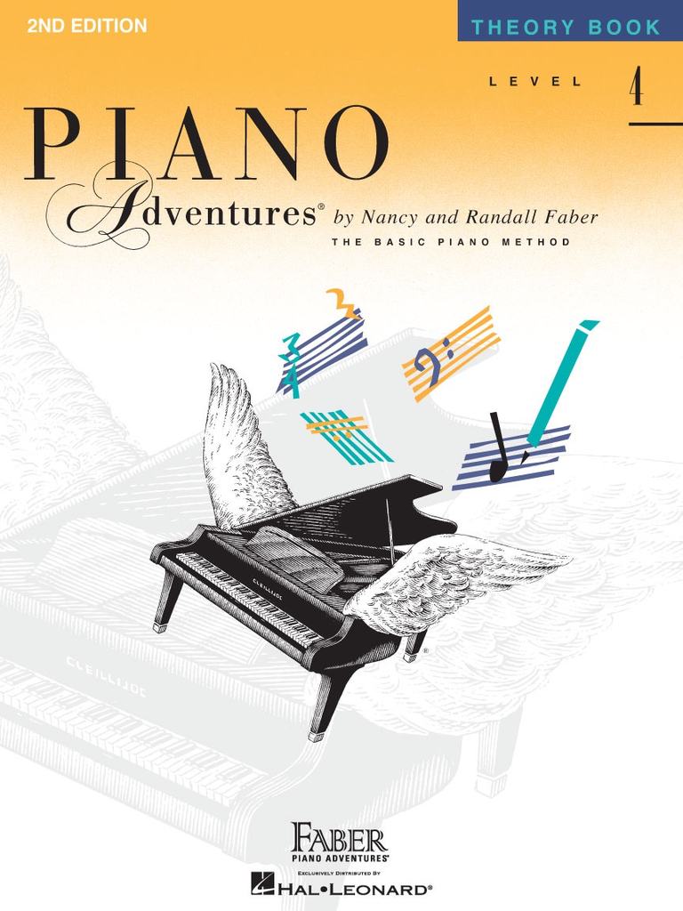 Faber Hal Leonard Faber Piano Adventures Level 4 - Theory Book
