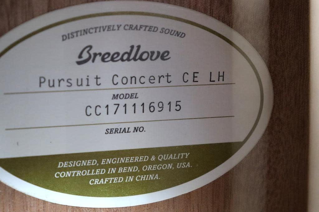 Breedlove Breedlove Pursuit Concert LH Left Handed CE Red Cedar-Mahogany w/Gig Bag