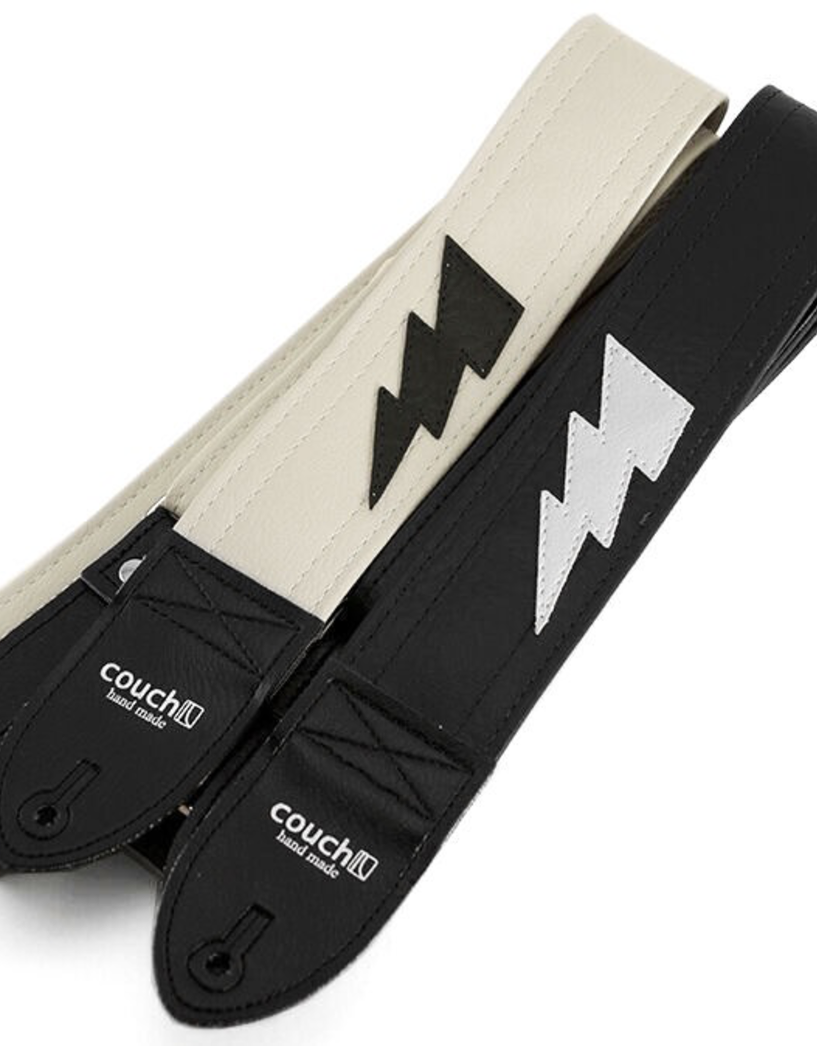 Couch Straps Couch Straps The Lightning Bolt Strap - White w/ Black Bolt