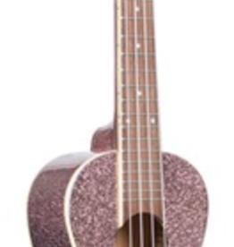 Kala Kala Gloss Sparkle/Mahogany/Pink Champagne Concert Ukulele