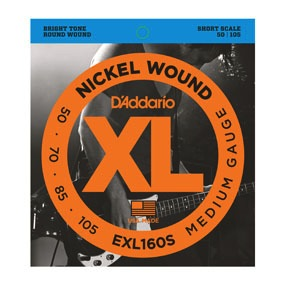 D'Addario D'Addario Short Scale Bass Strings Medium Nickel Wound .050-.105