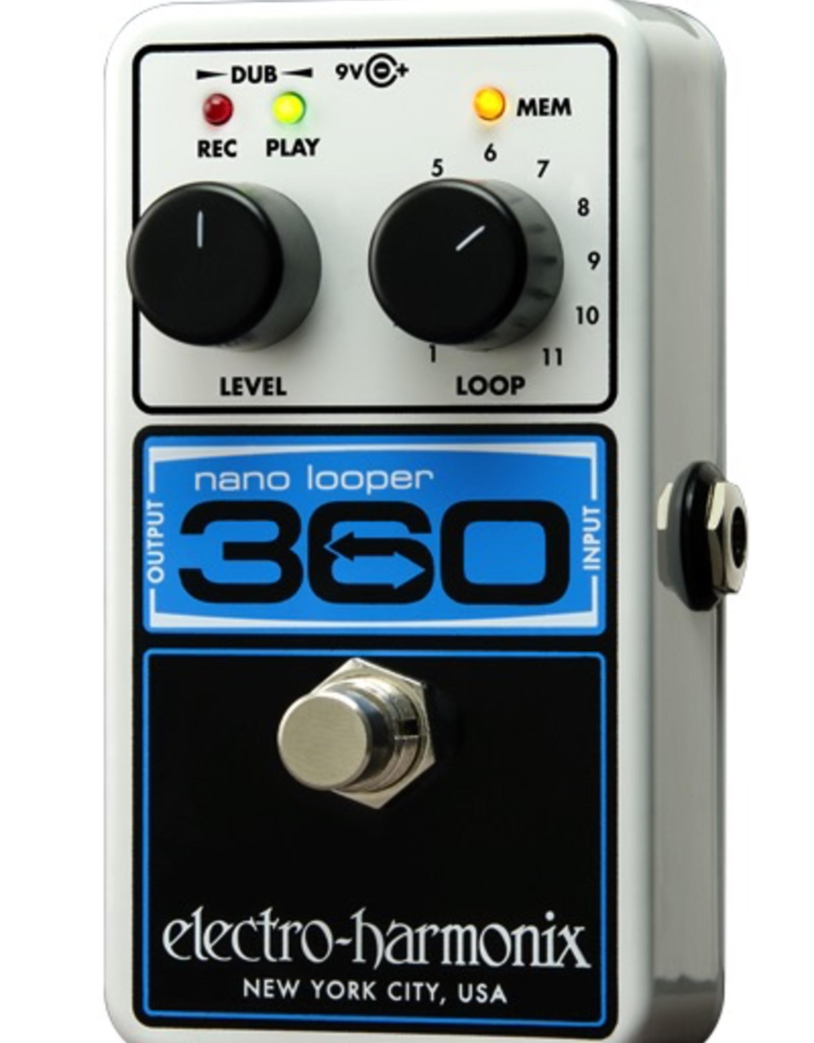 Electro-Harmonix Electro-Harmonix 360 Nano Looper - Compact Looper, 9.6DC-200 PSU Included