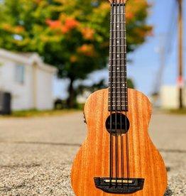 Kala Kala Satin/Mahogany/Aquila Thunderblack Strings/Fretted w/Bag — Acoustic-Electric U•BASS Ukulele