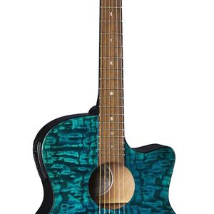 Luna Guitars Luna Gypsy Quilt Ash A/E Teal