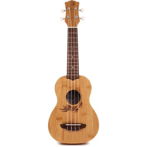 Luna Guitars Luna Uke Bamboo Soprano w/Gigbag