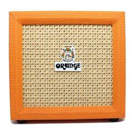 Orange Orange Crush 3 Watt Redesigned combo amp, Tuner, HP out, Spkr out, Aux in, Volume, Shape, Gain