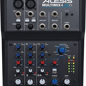 Alesis Alesis MultiMix 4 USB FX - 4-Channel Mixer/Recording Interface w/Effect