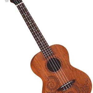 Luna Guitars Luna Uke Tattoo Mahogany Concert w/Gigbag