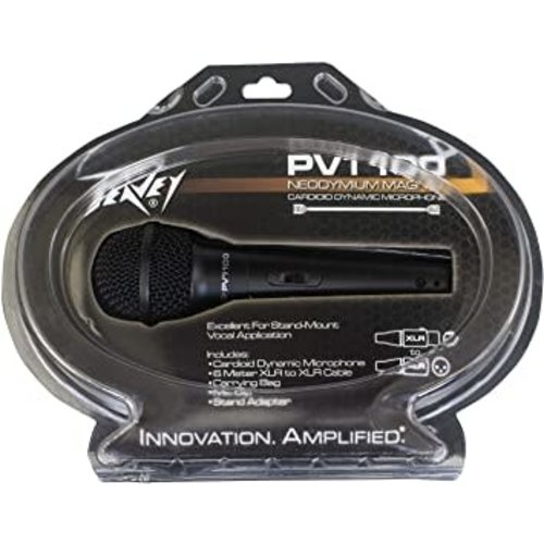 Peavey Peavey - PVi100 Neodymium Magnet Cardioid Vocal Mic w/ XLR Cable