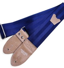 Couch Straps Couch Straps Navy and Buckskin Seatbelt GS W/ Pickholder